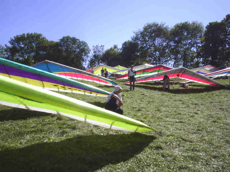 Hang Glider rigging area