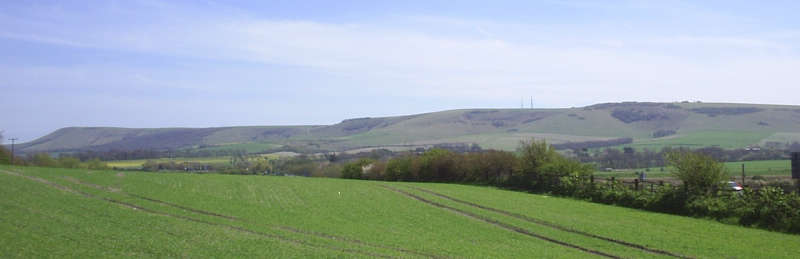 View of the Firle ridge
