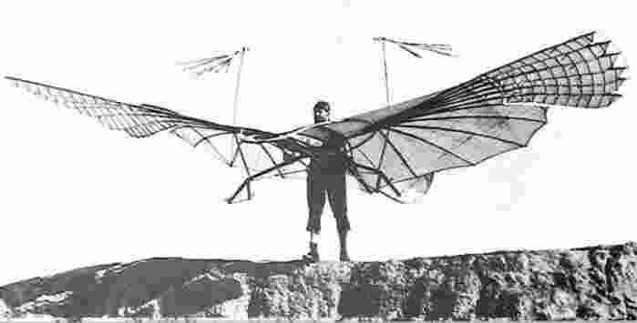 Otto the first hang glider pilot
