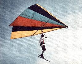 Tow kite early hang glider